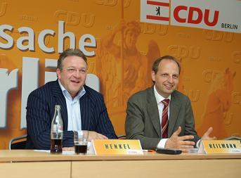 Frank Henkel und Thomas Heilmann bei der Vorstellung des CDU-Konzeptes