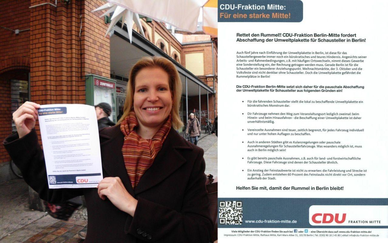 Bezirksverordnete Birga Köhler, wirtschaftspolitische Sprecherin der CDU-Fraktion, hat sich für diese sinnvolle Lösung eingesetzt.