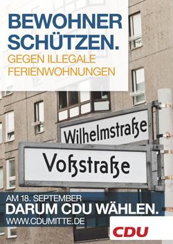 Wahlplakat der CDU Mitte 2011